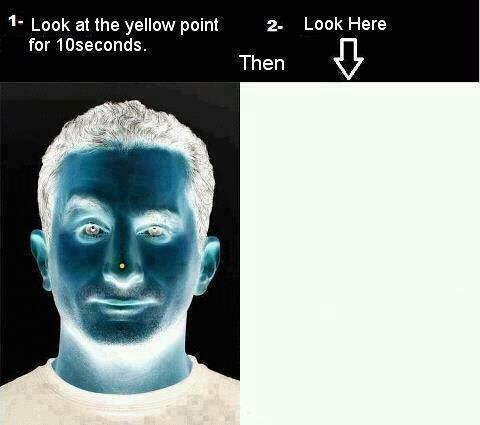 see the face properly for a few micro seconds more the illusion man