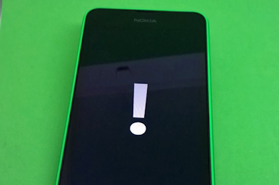 Nokia lumia 730 dual sim exclamation mark