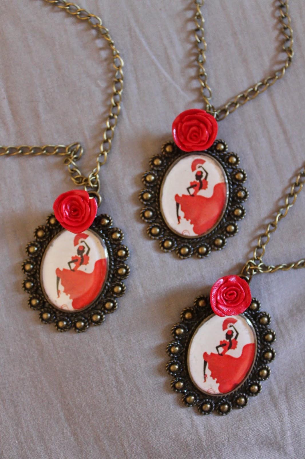 colgante camafeo flamencas