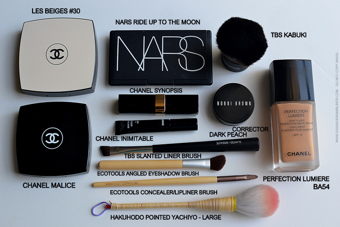 Makeup FOTD - Products Used - NARS Ride Up To the Moon - Chanel Les Beiges 30 - Synopsis Rouge Coco Shine - Beauty Blog