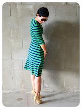 Striped Wrap Dress Pattern