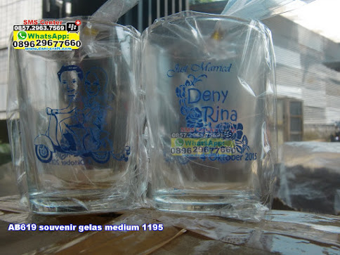 souvenir gelas medium 1195 murah