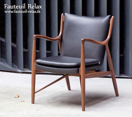 Fauteuil scandinave mod le 45 fauteuil relax - Comment nettoyer des chaises en cuir ...