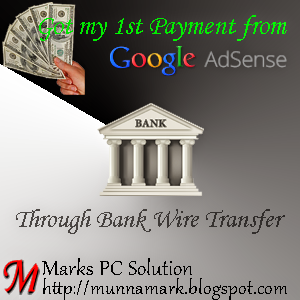 First Payment from AdSense through Wire Transfer