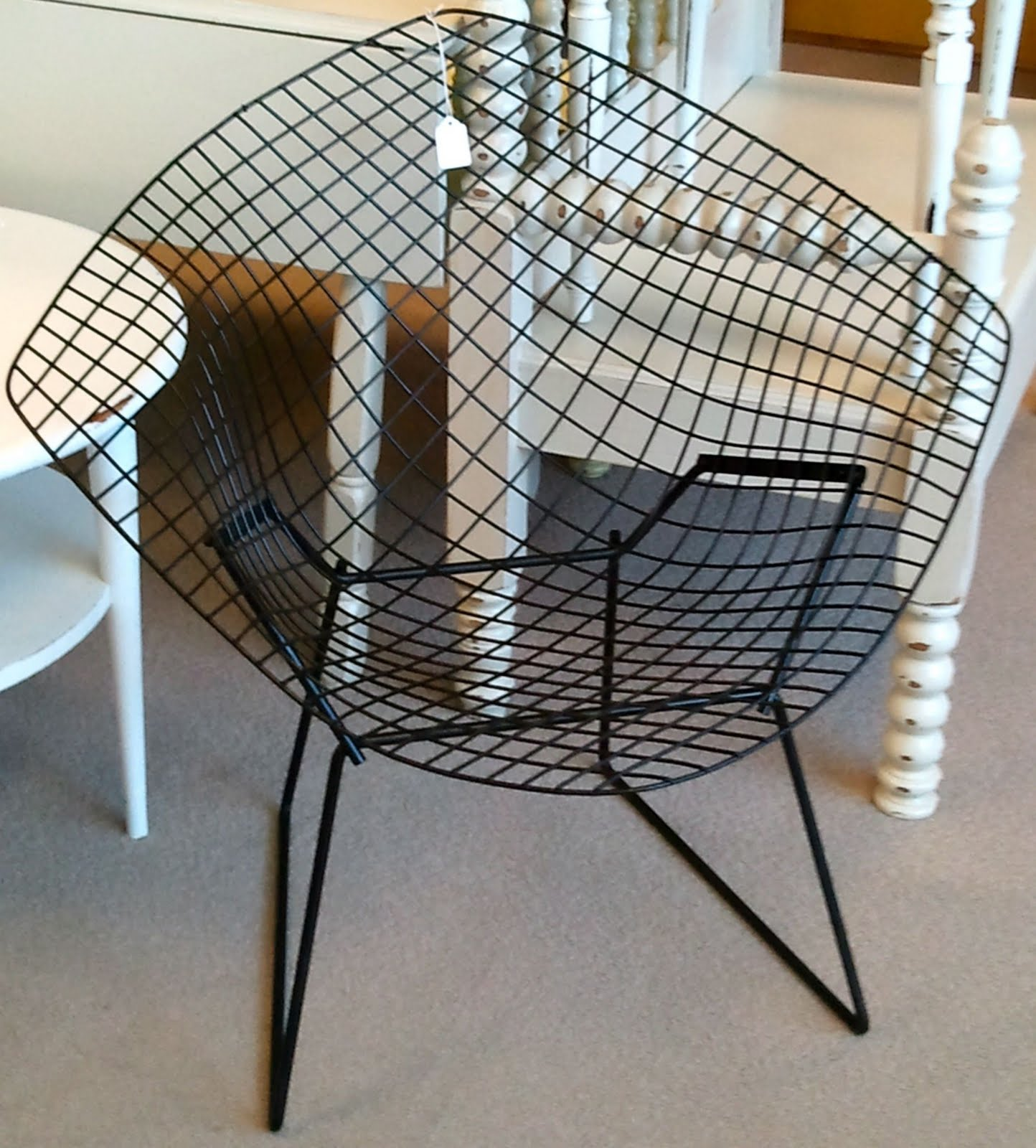 Cottage Couture Knoll Bertoia Diamond Lounge Chairs