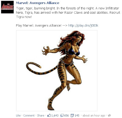 Tigra now available at Marvel: Avengers Alliance