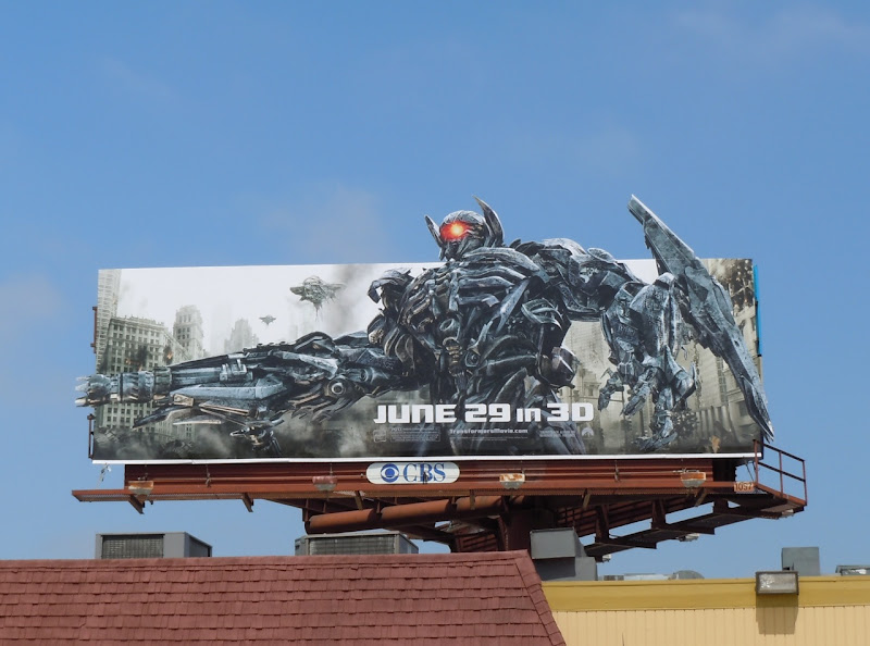 Transformers 3 Shockwave billboard