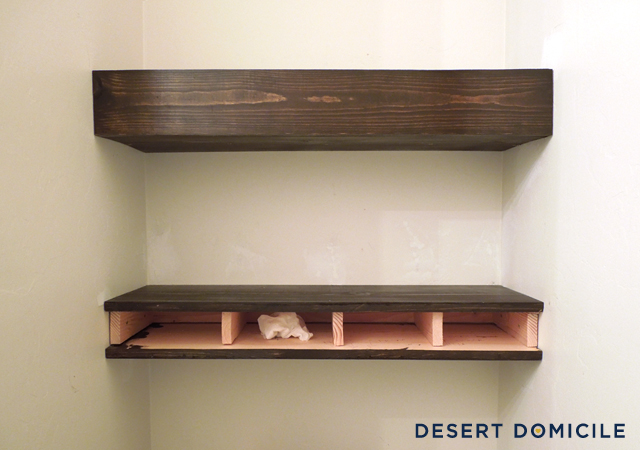 diy 15 chunky wooden floating shelves desert domicile rh desertdomicile com thick floating wall shelves Timber Shelves