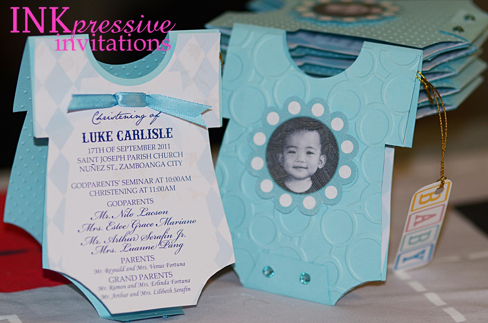 Fine baby boy christening invites collection invitation card ideas lukes christening 09172011 inkpressive invitations solutioingenieria Gallery