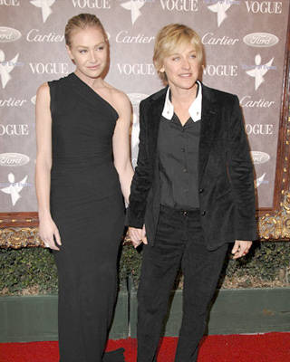 Portia de Rossi and Ellen DeGeneres at The Art of Elysium 10th Anniversary Gala