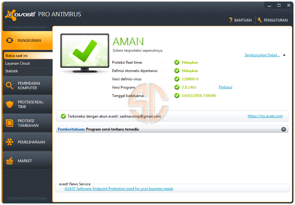 avast! Pro Antivirus 7.0.1461 Full License Key