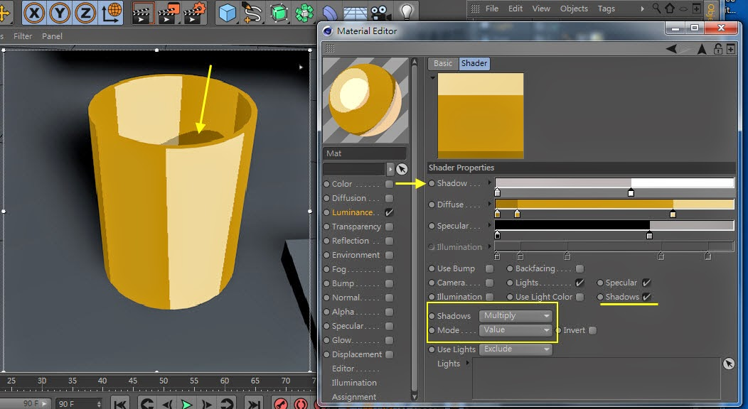 2D Style for 3D Objects in Cinema 4D 09