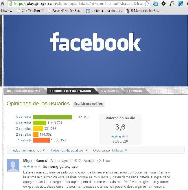 aplicacion facebook mala pesima errores conflictos forzar cierre