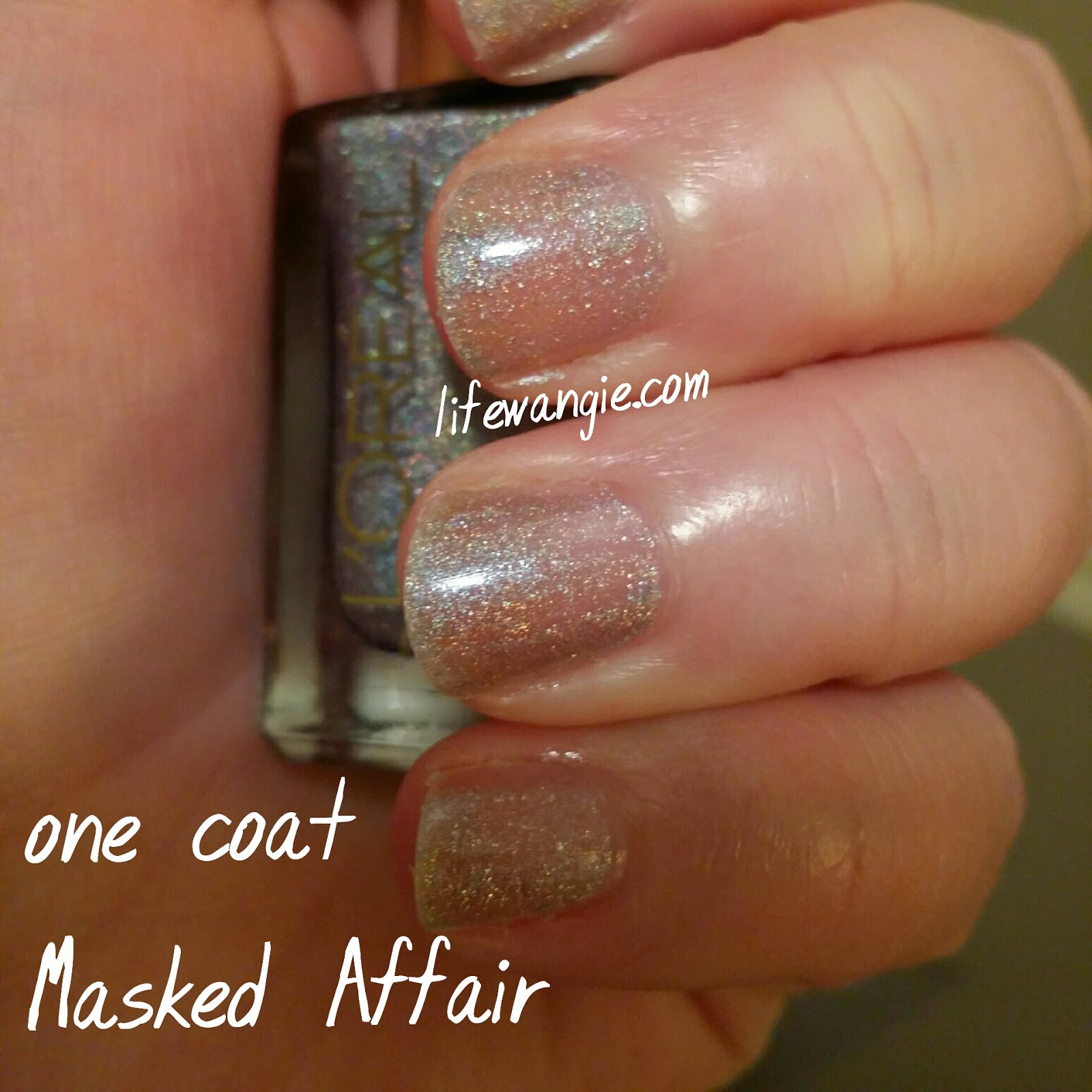 One Coat of Loreal Masked Affair