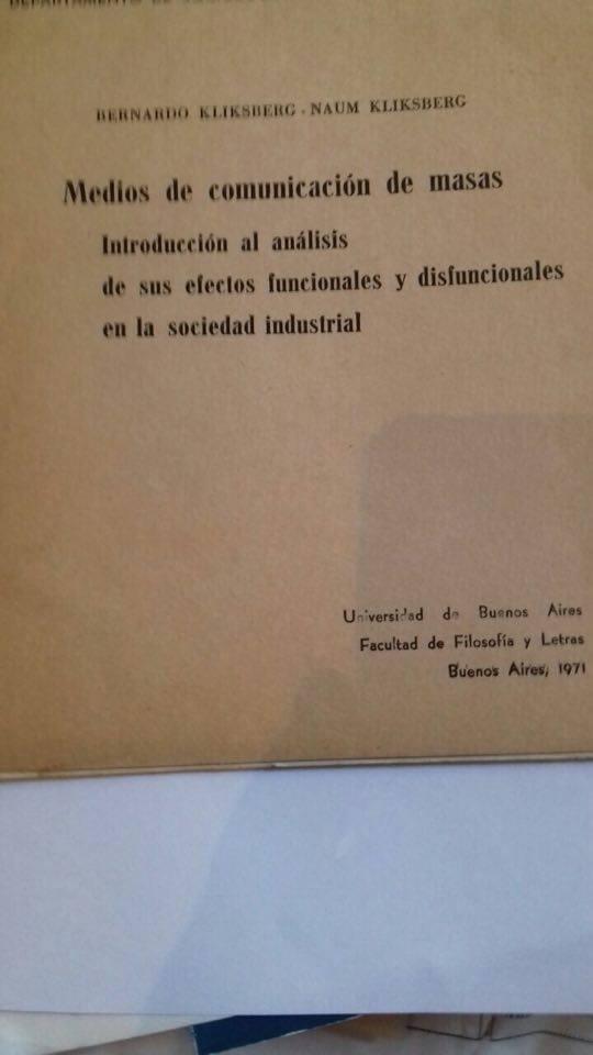 68 - Publicado por la Universidad de Buenos Aires.1971.