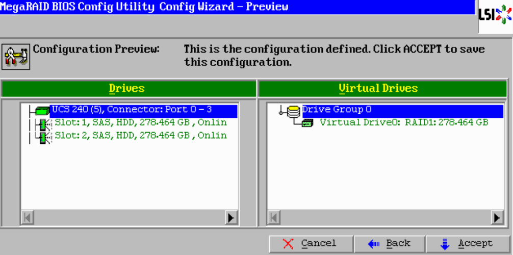 MEGARAID BIOS Configuration Utility