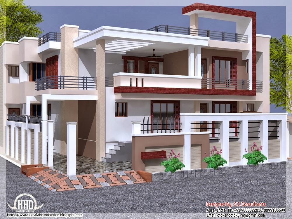 Fachada con balcones constuye tu vivienda for Viviendas para terrazas