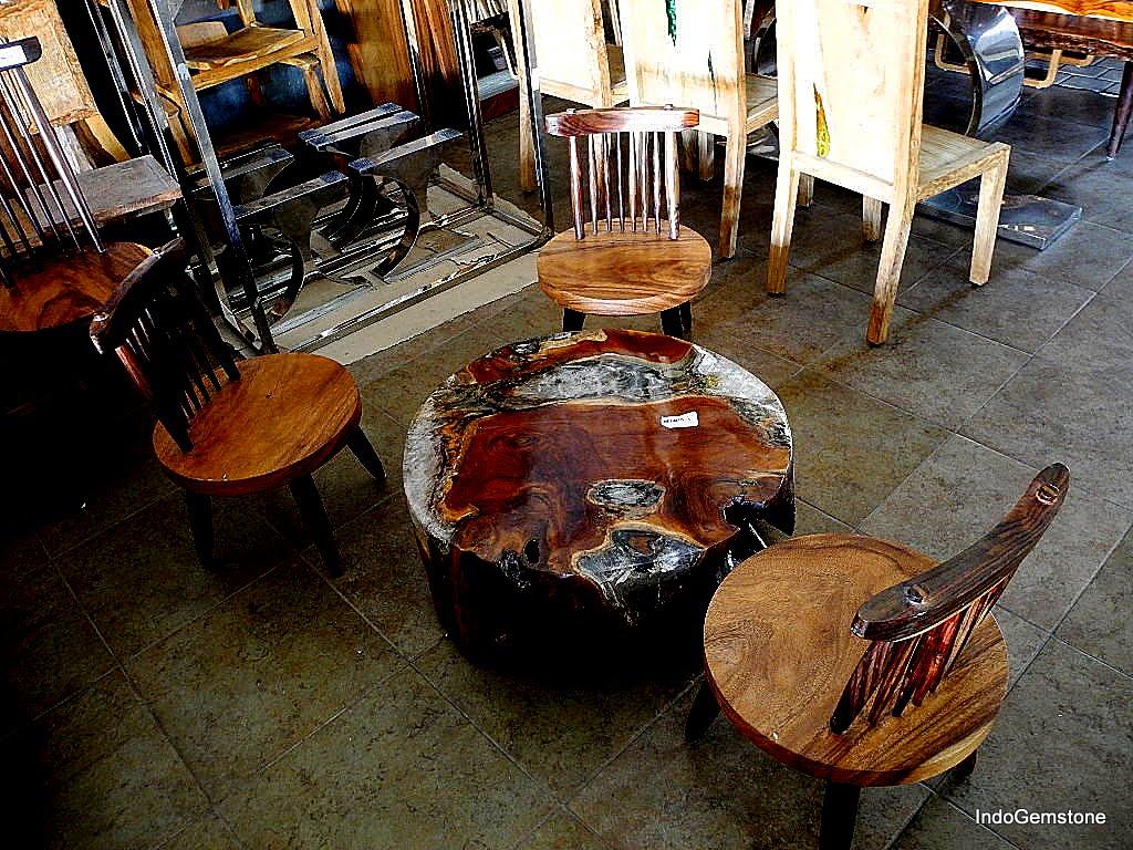 EPOXY RESIN RECLAIMED TEAK WOOD COFFEE TABLES IndoGemstone