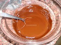 mezcla mantequilla y chocolate