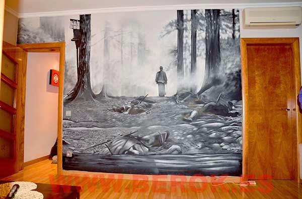 Mural de samurai