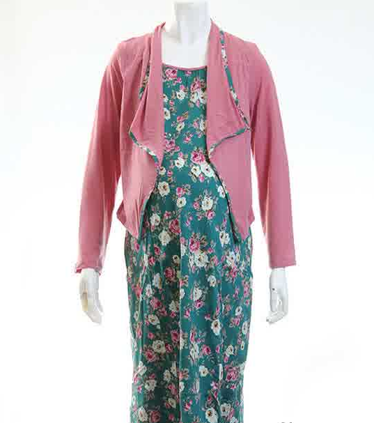 Koleksi Gambar Model Baju Hamil Batik Gamis Muslim Terbaru