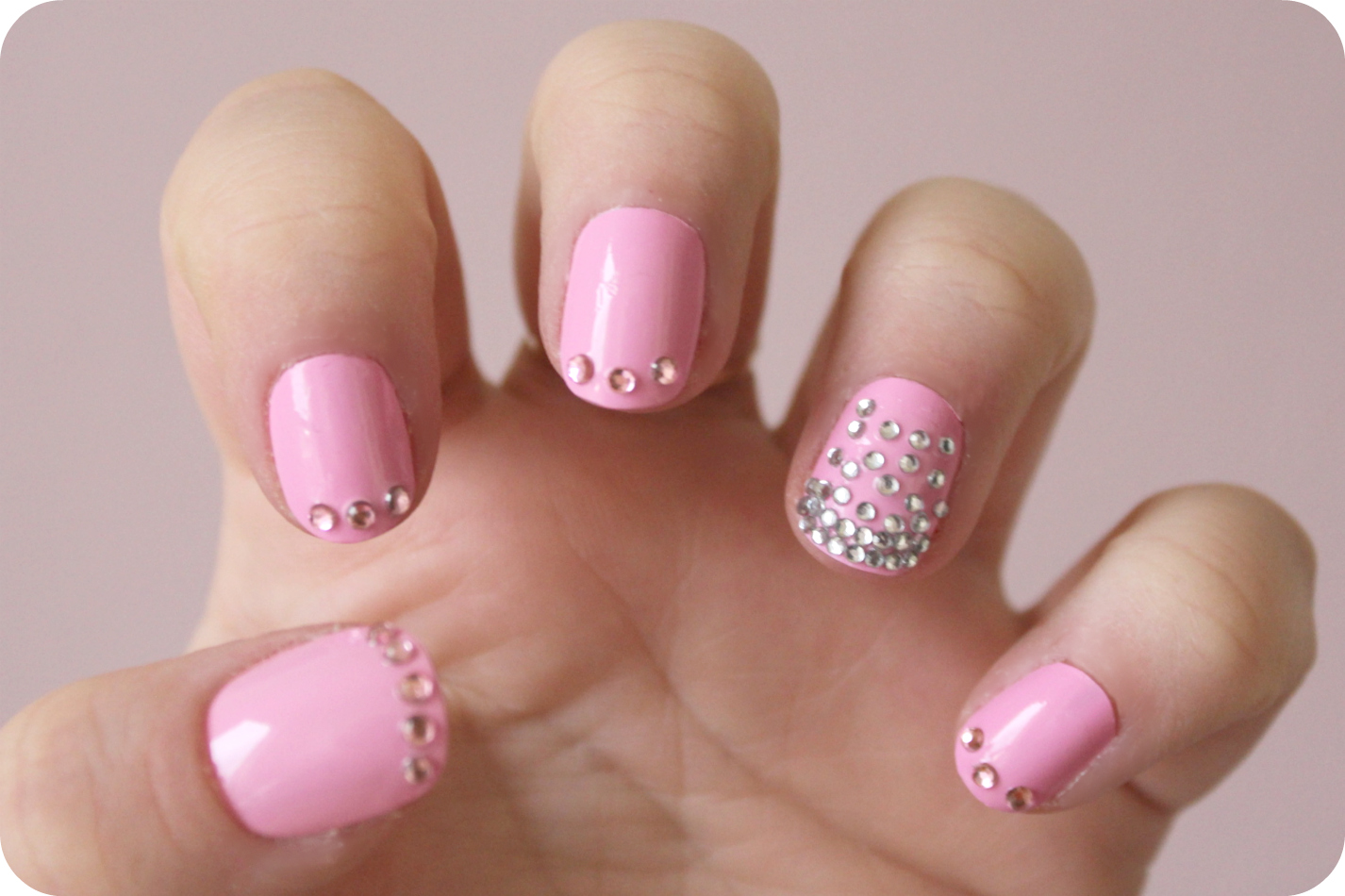 Nail Design with Gems