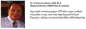 TESTIMONY - DR. IK. PUTRA SUARTHANA MM, Ph.D