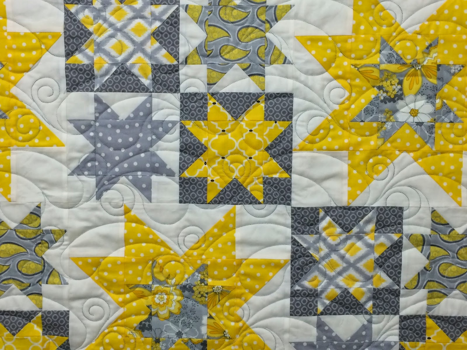 Cheryl Cohorn Yellow Star Quilt