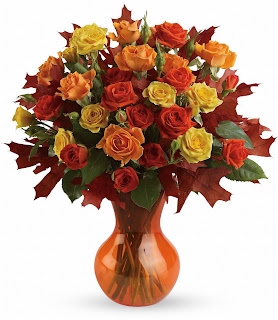 Send Teleflora Fabulous Fall Roses Online at LAROSE.COM and save up to $14.99 in fees