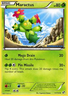 Maractus #11/114 Black and White Pokemon Card