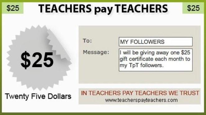 an apple for the teacher win a 25 teachers pay teachers