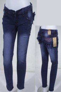 Jeans LOGO Basic 162 - Biru Dongker (Toko Jilbab dan Busana Muslimah Terbaru)