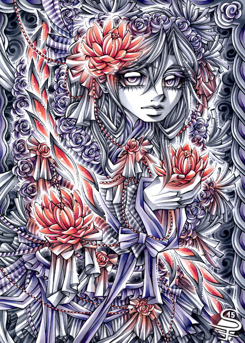 17-Soft-Lotus-Sandra-Filipova-DarkSena-Manga-Black-and-White-and-Colour-Detailed-Drawings-www-designstack-co
