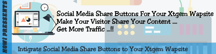 Social Media Share Button For Xtgem Wapsite