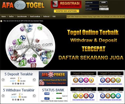 Afatogel.com Bandar Terbesar Situs Togel Online Terpercaya