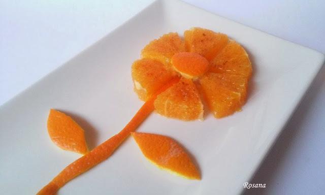 naranja en forma de flor
