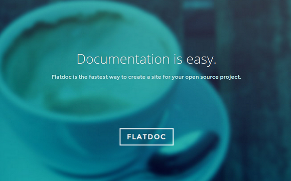 Quickly Create Site for Open Source Project with Flatdoc