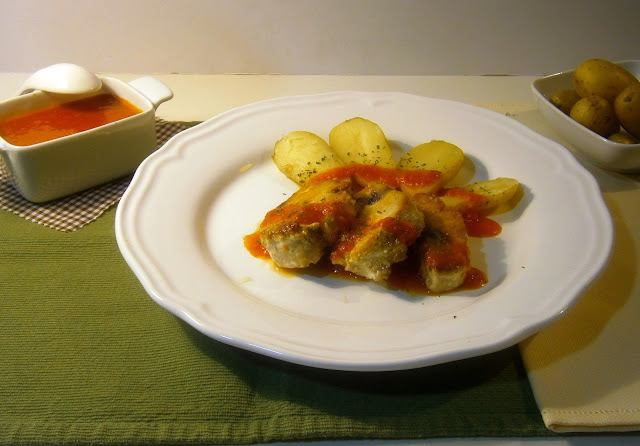 Bonito con salsa picante (mojo picon)