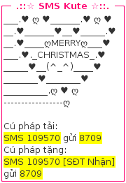 SMS chúc mừng giáng sinh đẹp nhất
