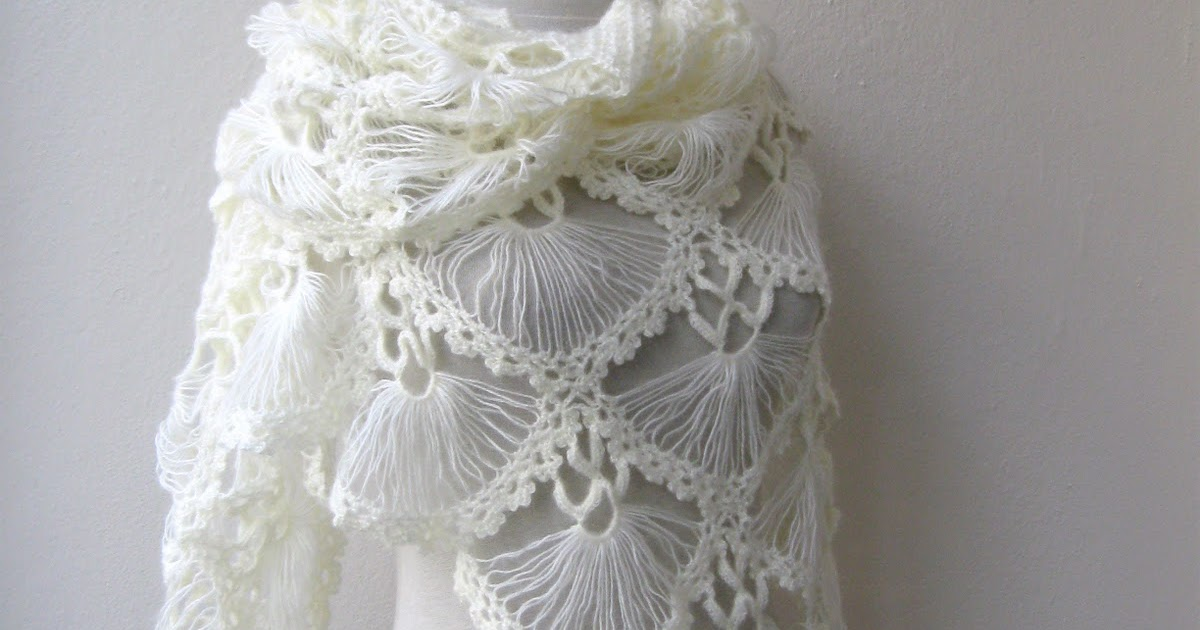 Crochet Lace Wedding Shawl Pattern : Knitting And Beading Wedding Bridal Accessories and Free ...