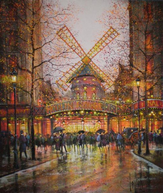 Guy Dessapt 1938 | French Impressionist painter | Paris autumn