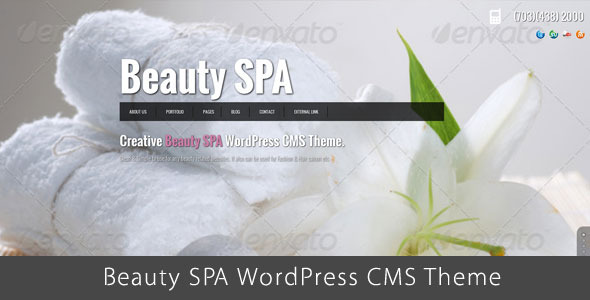 Beautiful SPA theme for Beauty Blog