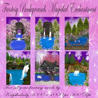 Magickal Enchantment digital fantasy backgrounds