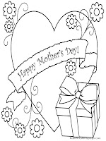 Mothers Day Gift Coloring Pages