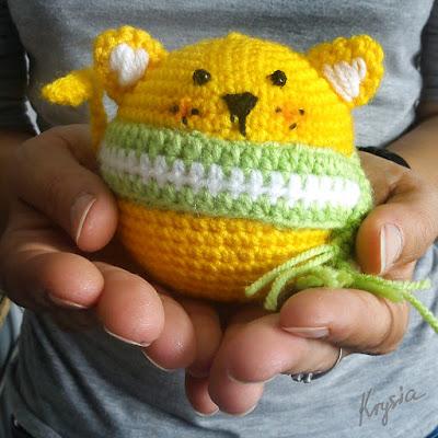 amigurumi crochet ball-cat piłka-kot szydełkowy