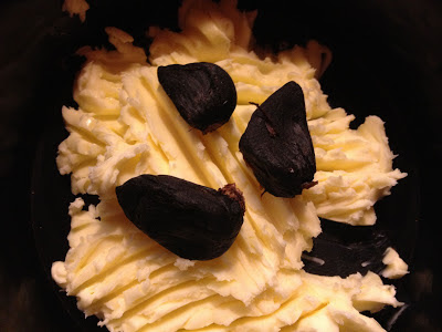 black garlic in butter