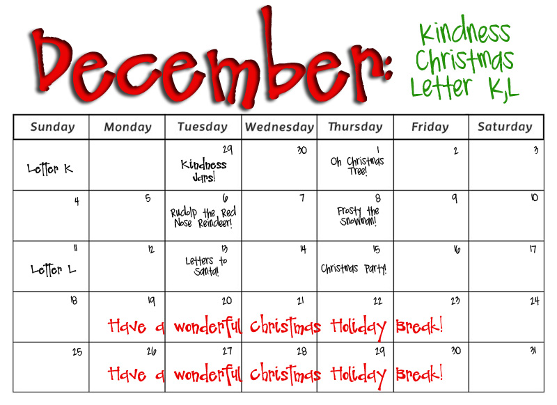 december preschool themes smarty preschool monthly calendars 184