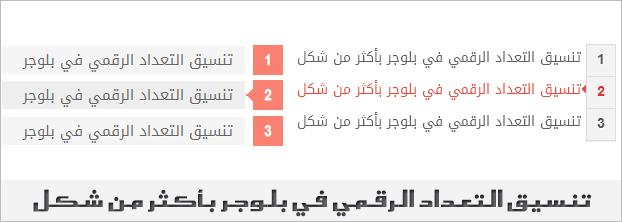 من افضل و اهم تنسيقات صندوق كتابة المواضيع في بلوجر هو التعداد الرقمي لأنه يمكنك تمييز النقاط المهمة و ترتيبها بشكل جيد