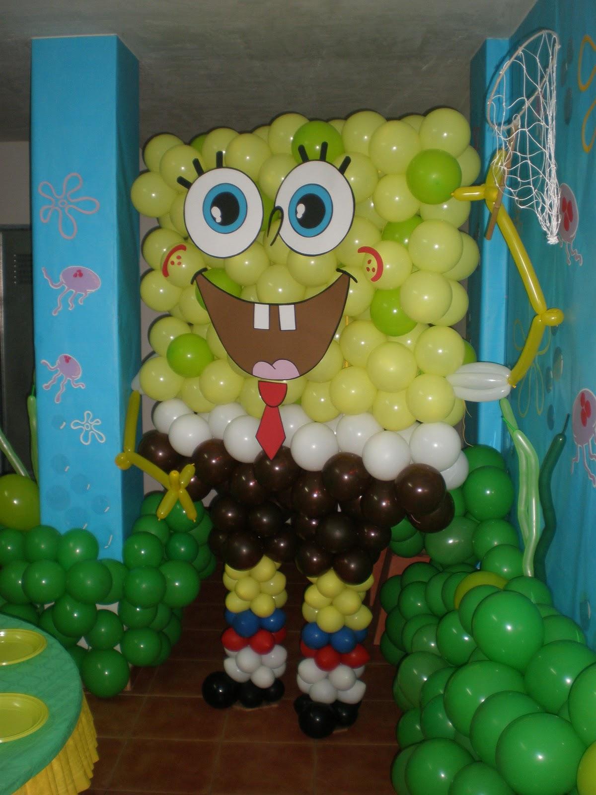 El hobby de lola decoraci n bob esponja para samuel 4 a os - Decoracion bob esponja ...