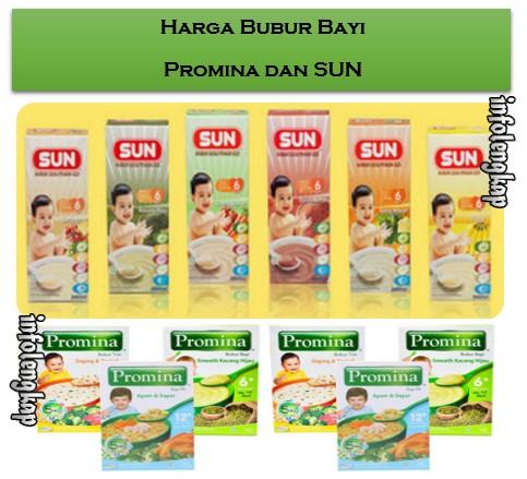 NEW!! Harga Bubur Bayi Promina dan SUN 2017